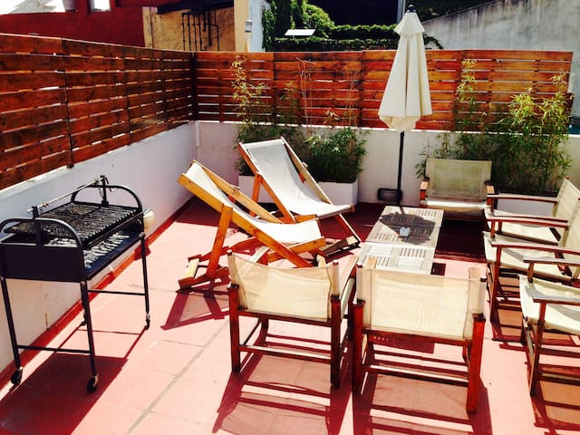 Room with balcony in Soho - Buenos Aires - Huis