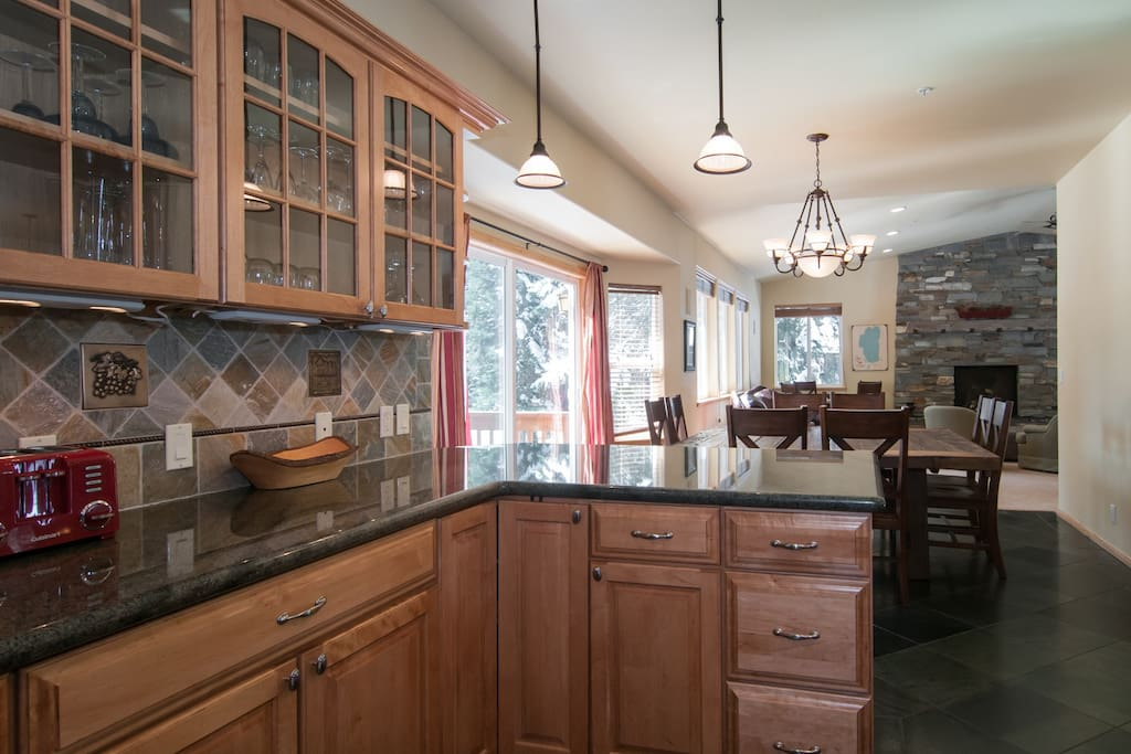 open plan dining kitchen and great room