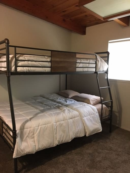 Guest Room 1 with Oversized Bunk Bed! Queen and Full