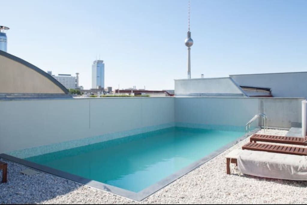 cool loft with pool in berlin mitte condominiums for rent in berlin berlin germany. Black Bedroom Furniture Sets. Home Design Ideas