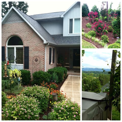 B&B setting with mountains &city view, TN/Tri-City