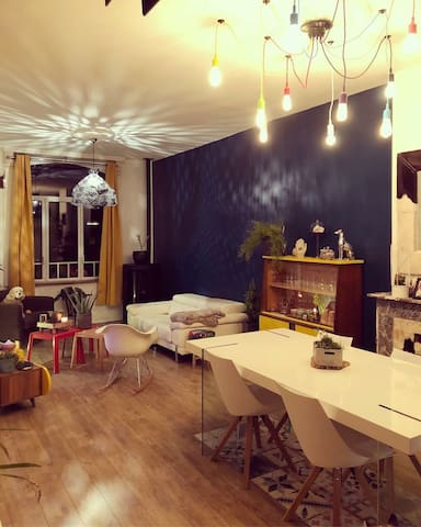 Chambre Bleue dans Maison de ville