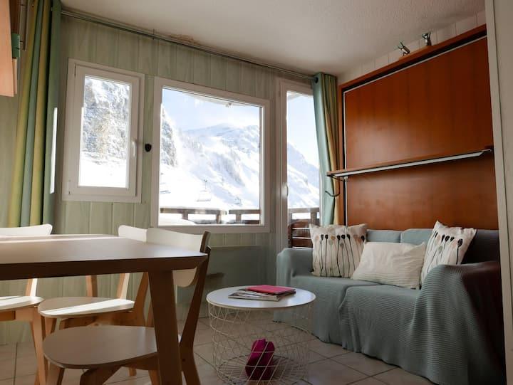 Agréable studio au calme, snow coté falaise