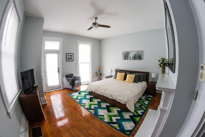 Full HD Roku TV in bedroom!