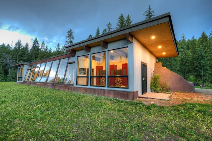 Earthship Sustainable Home Experience in Big Sky