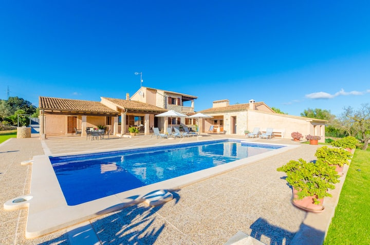 NA MAIANS - Villa with private pool in Canyamel. Free WiFi
