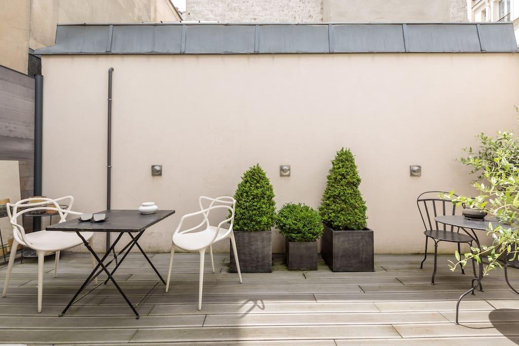 Luxueux triplex avec terrasse marais 170m2 3chabs for Restaurant avec terrasse ile de france