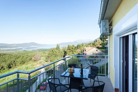 Apartment Jelena 3 Tivat  terrace with sea view - Aguila