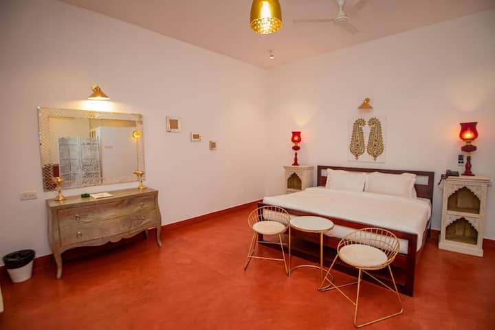 SuperKing rooms with Pool view near Vagator beach