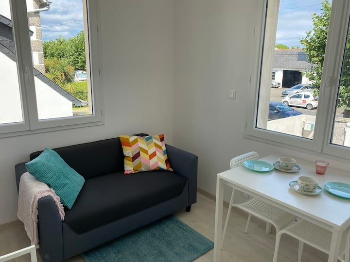 Joli et cosy appartement à 150m de la mer