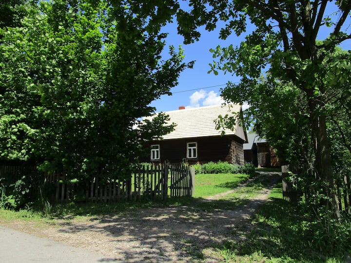 wooden cottage at feel free farm
