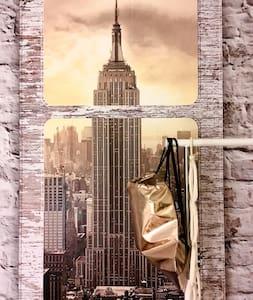 """"""" NEW YORK """" - Zimmer / 18 Gehminuten zu Markt/TH"""