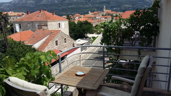 Room with a view in Korcula -Blue