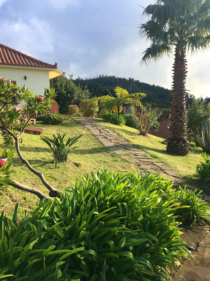 House with one bedroom in Ponta Do Pargo, with wonderful sea view, furnished garden and WiFi - 20 km from the beach