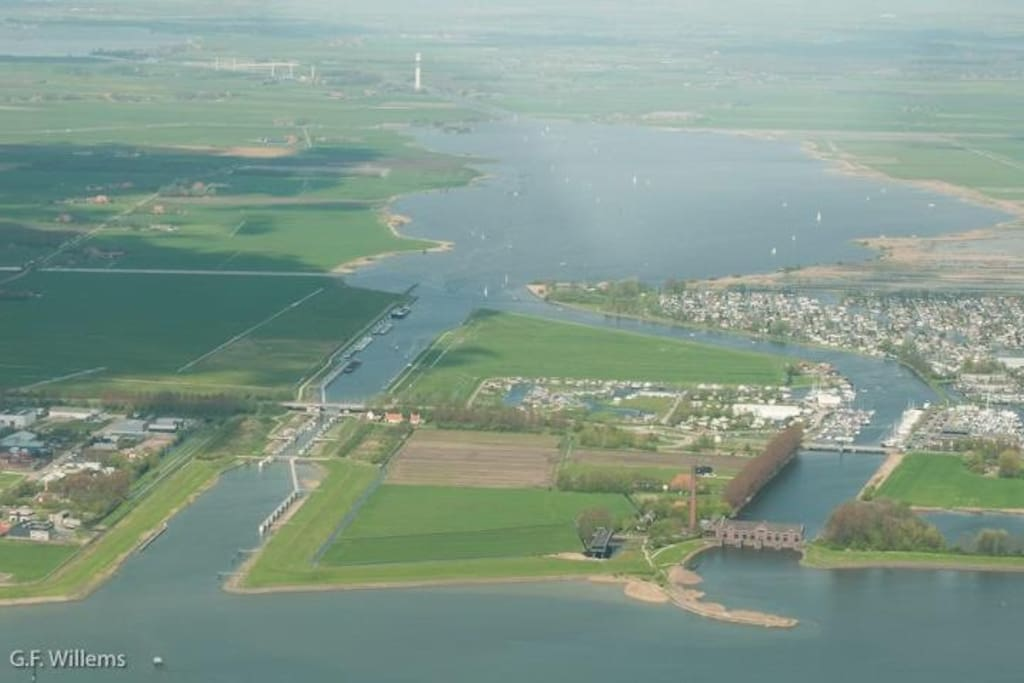 Beautiful Lemmer from Sky