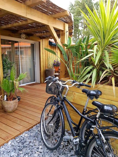 T2 neuf n°3 clair plage à 5 min 2 vélos en prêt