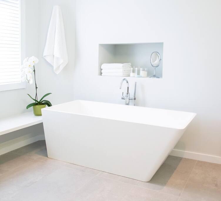 Master bath soaker tub