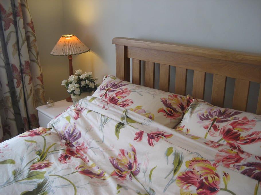 Sleep soundly on comfy pillows, duvet and mattress topper