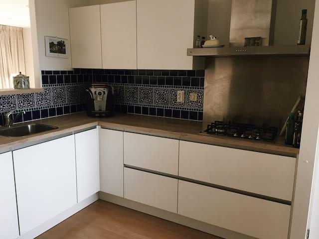 brand new kitchen (shared)  with coffee machine, milk foamer, toaster etc