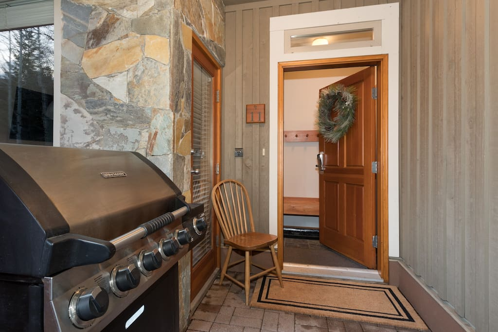 Secure Entry and Private BBQ
