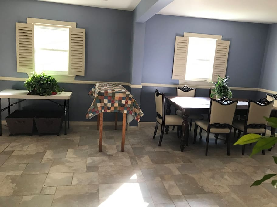 Open Pantry and Dining Room.