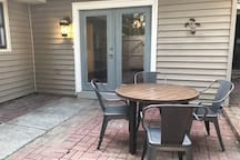 Enjoy a dinner or just the privacy of the outdoor patio table.