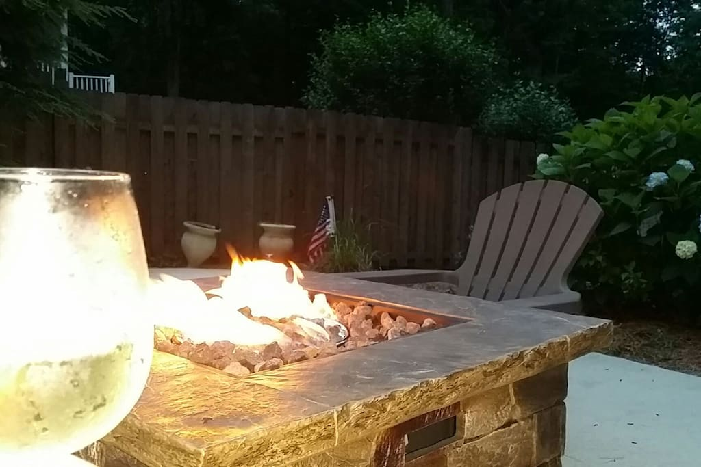 relax by the fire pit.
