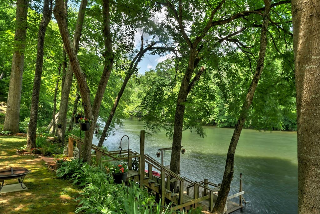 Spend your days floating the river right outside your back door.