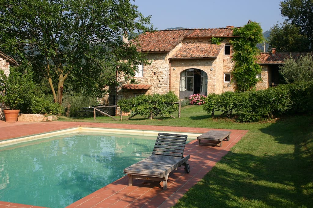 The house and pool