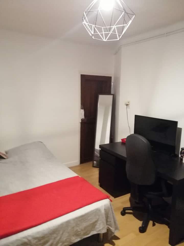 Grande chambre  à louer dans appartement lumineux