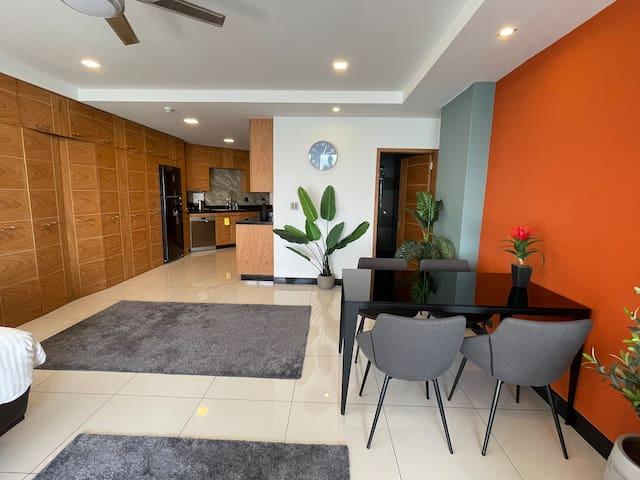 Delightful 63m2 studio apartment with seaview