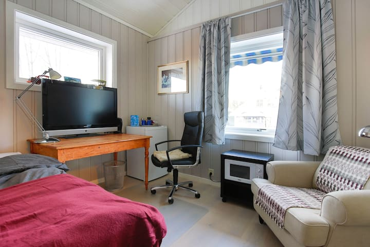 Very airy studio with amenities close to Oslo AP