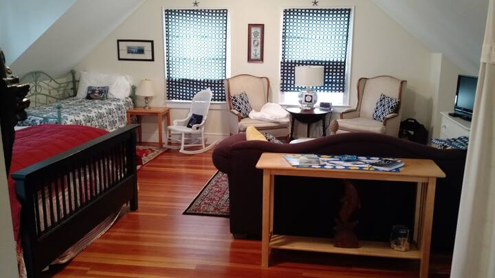 Spacious family-friendly room in B&B; private bath