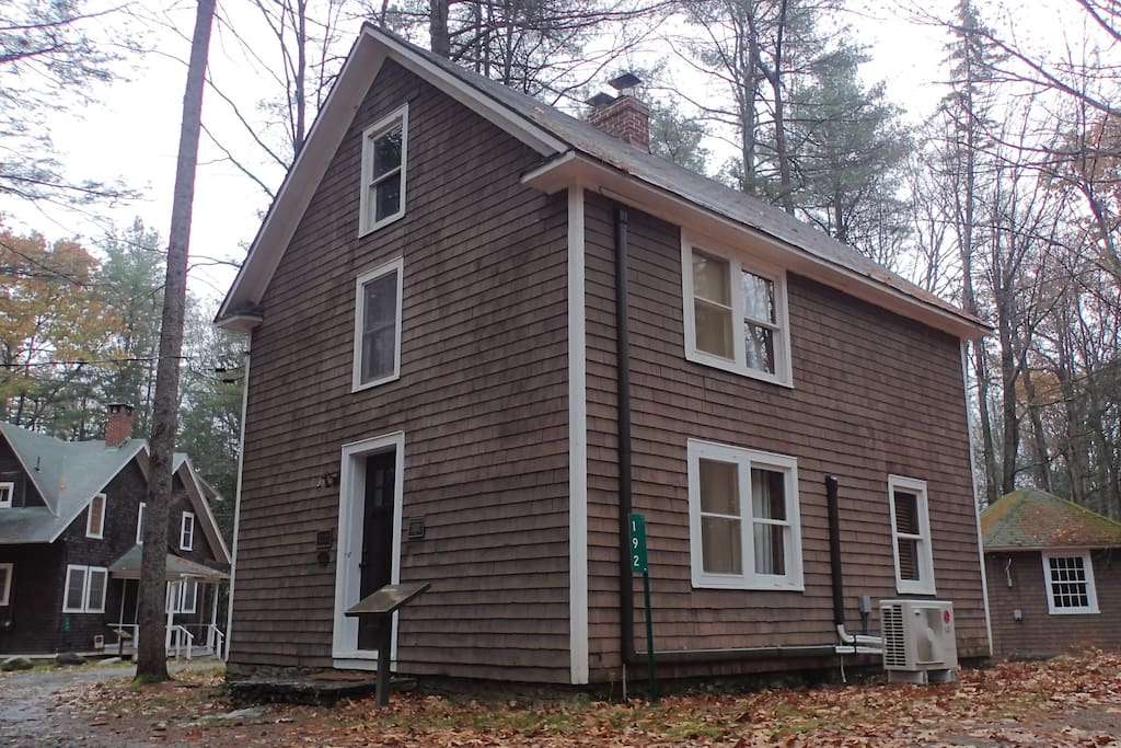 Exterior view of the Historic Ice House Cottage