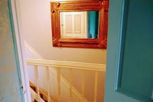 Mirror and stairs