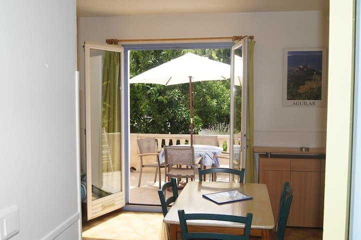 STUDIO L'Oranger rdc+terrasse 15m2 - Claira - Apartament