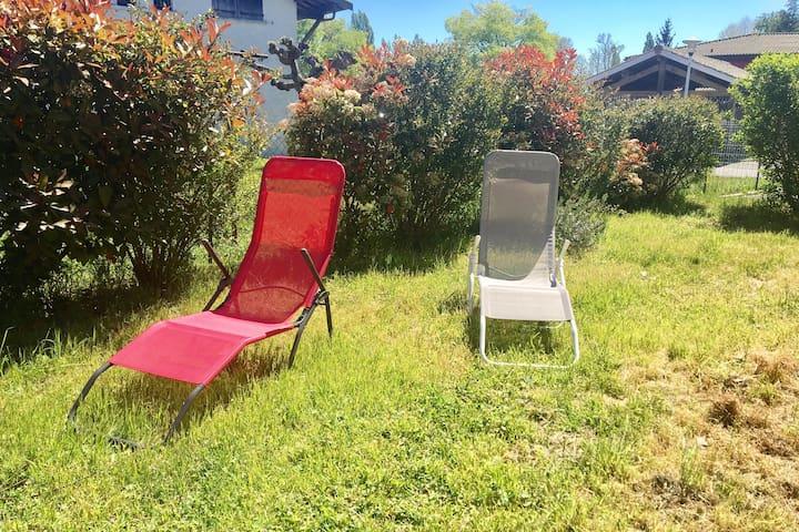 Appt avec jardin au cœur du bassin - Lanton - Apartemen