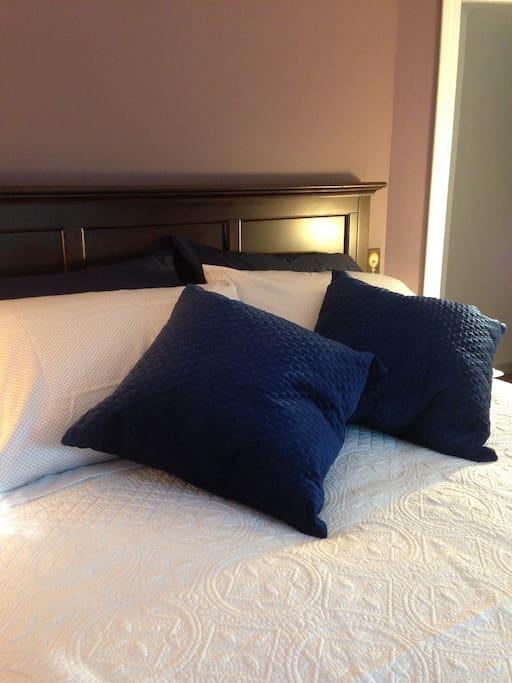 New plush pillow top mattress.
