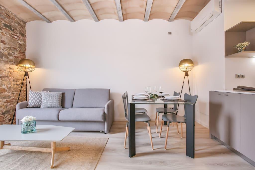 exclusivo apartamento pla a catalunya 1 1 appartements louer g rone catalunya espagne. Black Bedroom Furniture Sets. Home Design Ideas