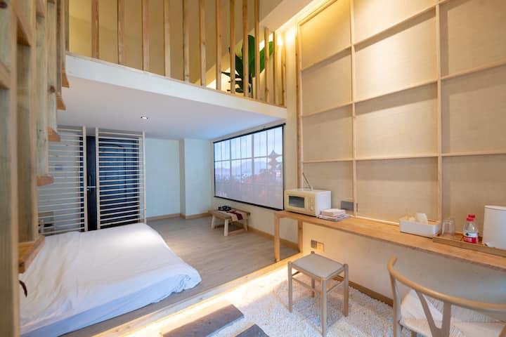 半宅·陶浠Loft复式浴缸|双地铁|夫子庙秦淮河畔|IMAX巨幕私人影院|新街口水游城时尚商圈|
