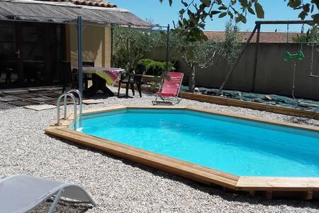 Studio chaleureux avec  piscine - Le Pouget - Haus