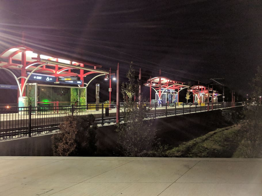 Light rail station in walking distance. Opening March 16th, 0.2 miles from home