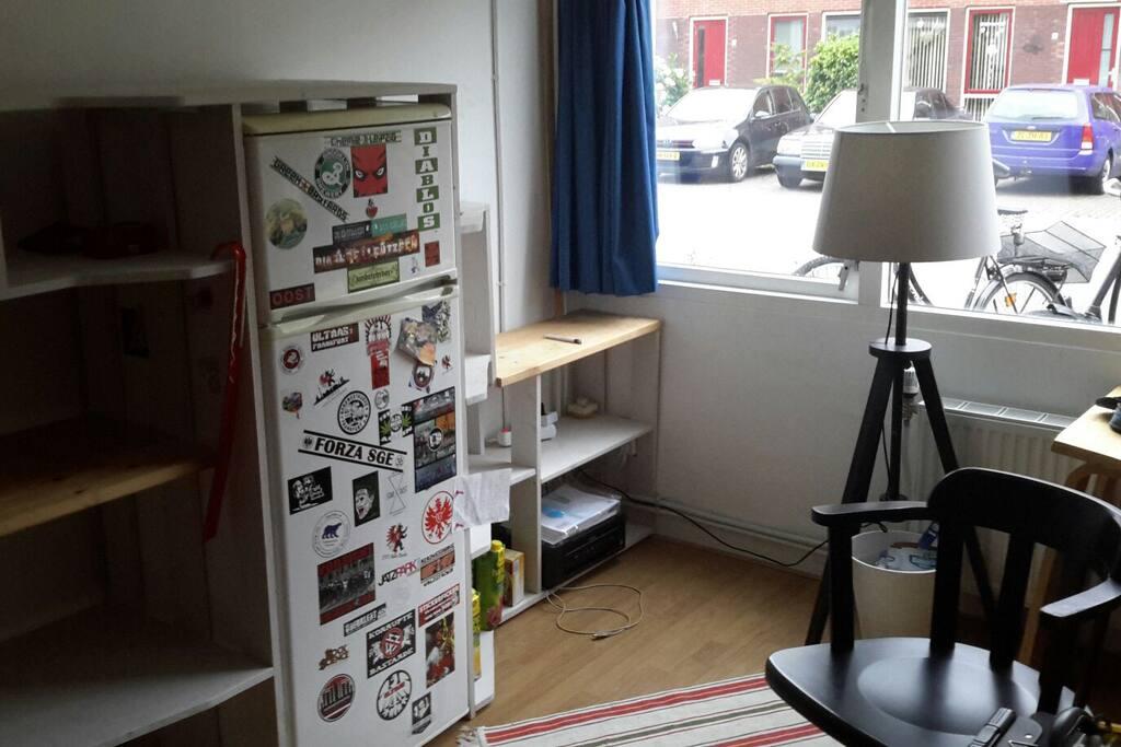 Own fridge and printer!