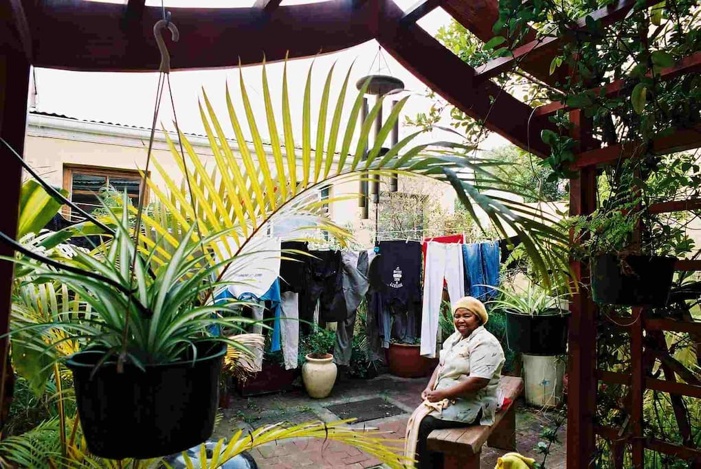 Private back courtyard