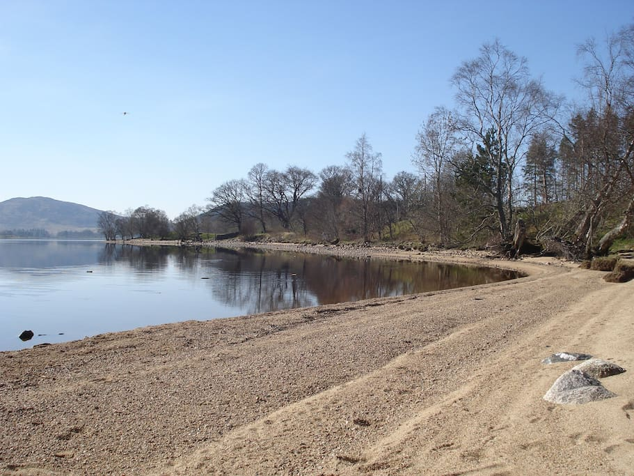 Loch Rannoch on of its many beaches