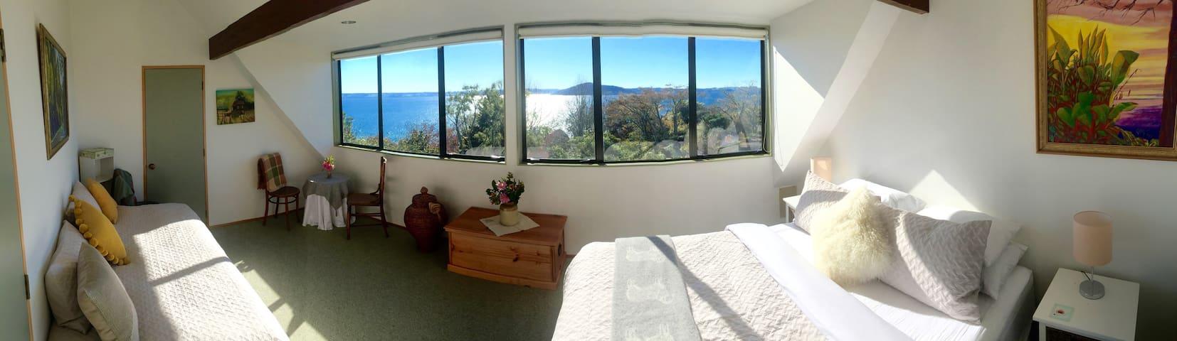 Bedroom One, Tutanekai Suite -Views