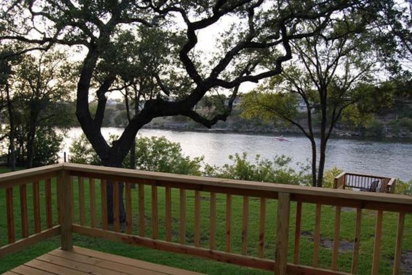 Enjoy the lake view from our wrap around porch.