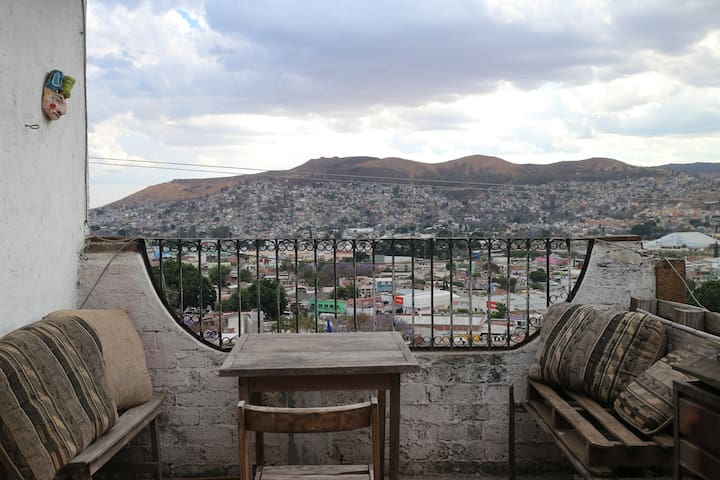 Room with beautiful view and terrace - Oaxaca - Huis