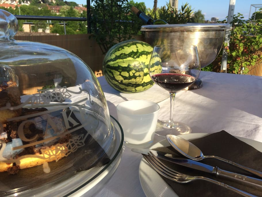 Ultimate private roof garden dinner for 2 with unforgettable feeling