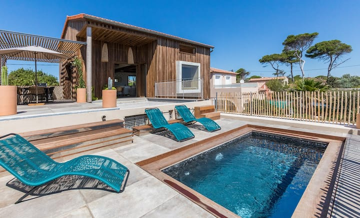 Villa d'architecte en bord de mer à La Capte